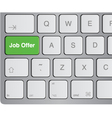 keyboard - job offer vector image vector image