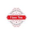 My Darling Valentine emblem vector image