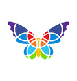 Butterfly mosaic isolated White background vector image
