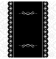 Card design vintage ornate frame vector image