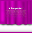 curtain of purple color vector image