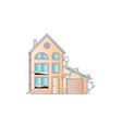 house flat style in soft vector image