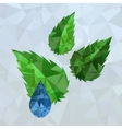 Polygonal Blue Water Drop vector image