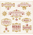 Vintage Christmas Labels vector image