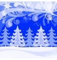 Christmas Low Poly Background Winter Forest vector image