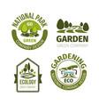 green park or garden design icons vector image