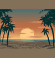 ocean sunset vector image vector image