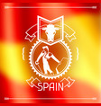 traditional spanish corrida spain background vector image