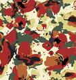 Seamless abstract floral pattern with poppy vector image