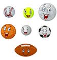 Cartoon collection ball vector image