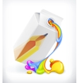 Creative milk icon vector image vector image