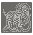 monochrome icon with Celtic art vector image