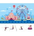 Circus with gymnasts vector image
