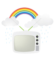retro tv and rainbow vector image