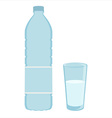 Drinking water vector image