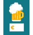 Beer bottle price blank vector image