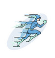 fast superhero hand drawn image vector image