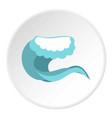 Foamy wave icon circle vector image