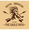 Native american indian vintage print vector image