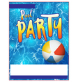 Pool Party Flyer vector image