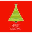 Triangle Christmas tree with lights Merry Christma vector image