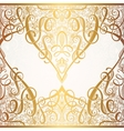 floral golden eastern decor with place for your vector image vector image