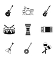 Device for music icons set simple style vector image