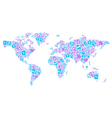 Blue and violet concept of World map vector image vector image