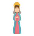 virgin mary blessed manger christmas charatcer vector image