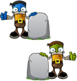 Halloween Monster With Gravestone vector image
