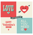 design elements valentine day set one vector image