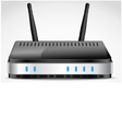 Realistic Wi-Fi Router vector image vector image