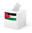 Ballot box with voting paper Jordan vector image