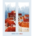 Winter banners with city landscape vector image vector image