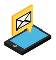 Sms isometric icon vector image