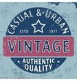 Casual urban vintage stamp vector image