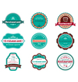 Food and restaurant labels vector image vector image