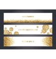 Abstract gold banner templates vector image