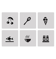 Cooking and kitchen icons vector image