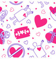 background with a love pattern vector image