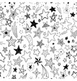 beautiful seamless pattern hand drawn doodle stars vector image