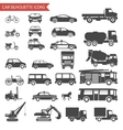 Cars and Vehicles Silhouette Icons Transport vector image