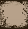 floral frame in grunge style vector image