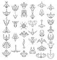 large set of hand drawn top down cartoon vector image