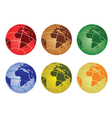 Africa on a globe vector image