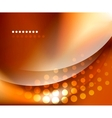 Shiny smooth blurred wave background vector image vector image