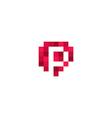Pixelated Logo Template vector image