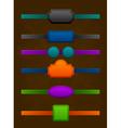 set of strict vintage colorful design labels vector image