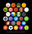 Flat round icon set 1-sport vector image
