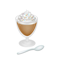 Iced coffee with whipped cream and sprinkles vector